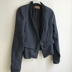 Black Wool Tweed Blazer